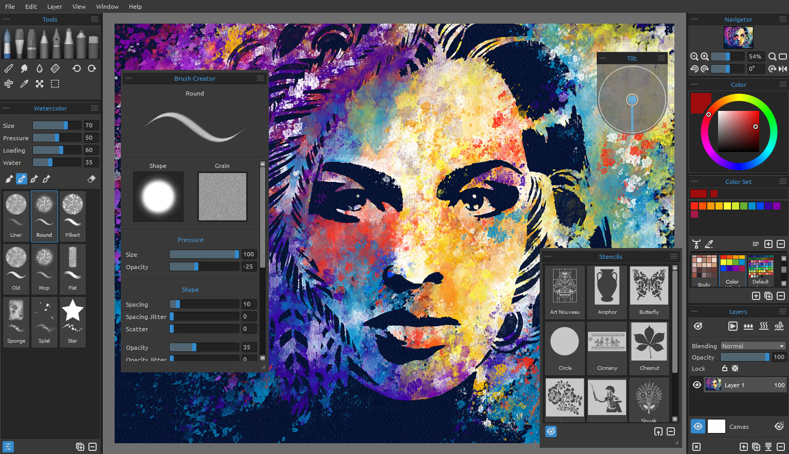 Rebelle real media paint software Art design software