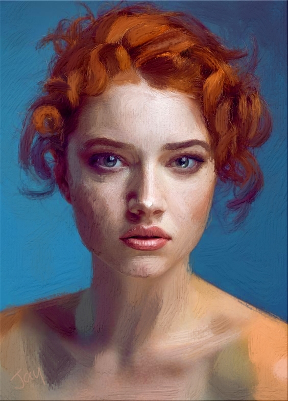 Beautiful Redhead Acrylic
