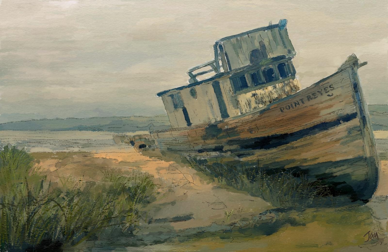 Boat Watercolour