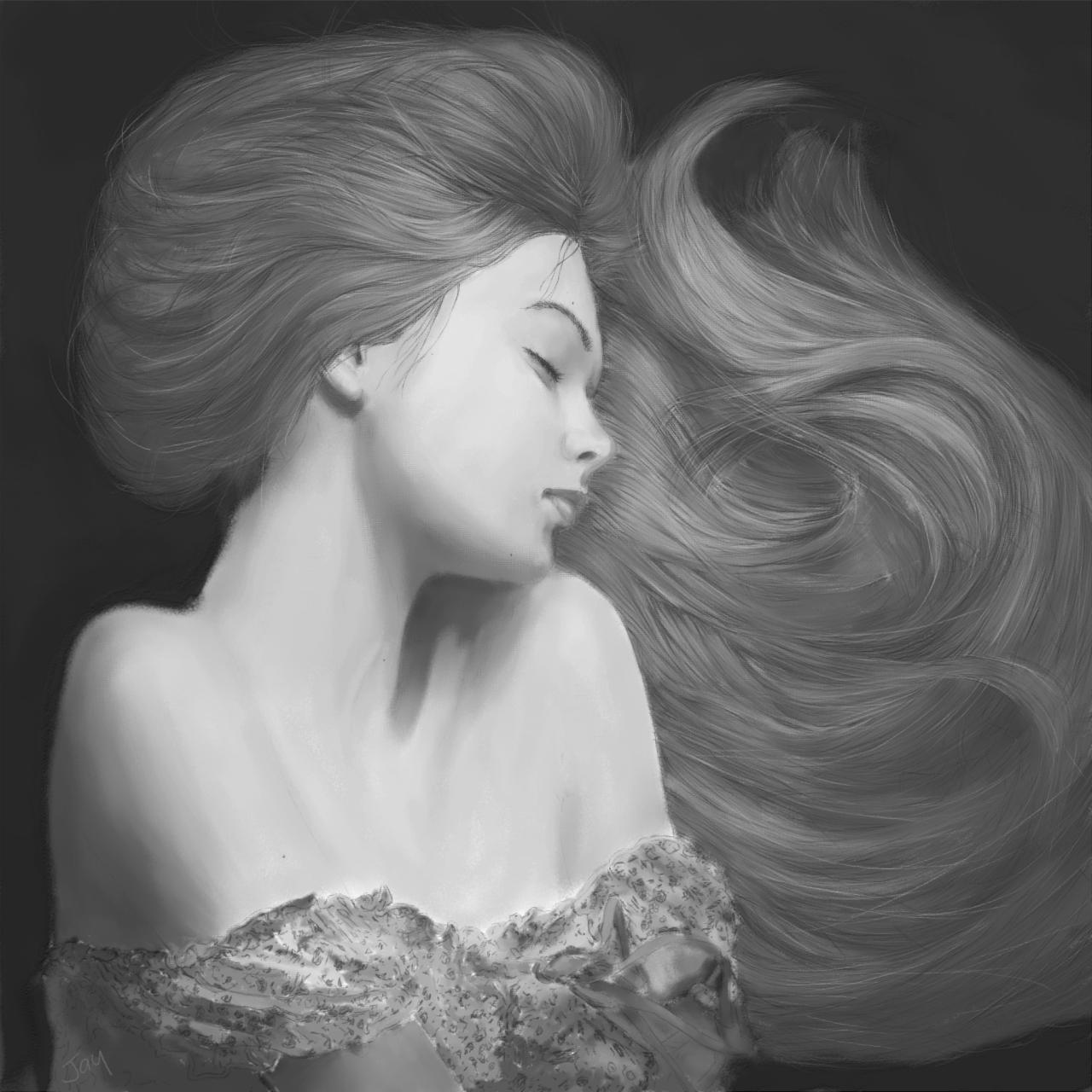Hair - Pencil & Smudge