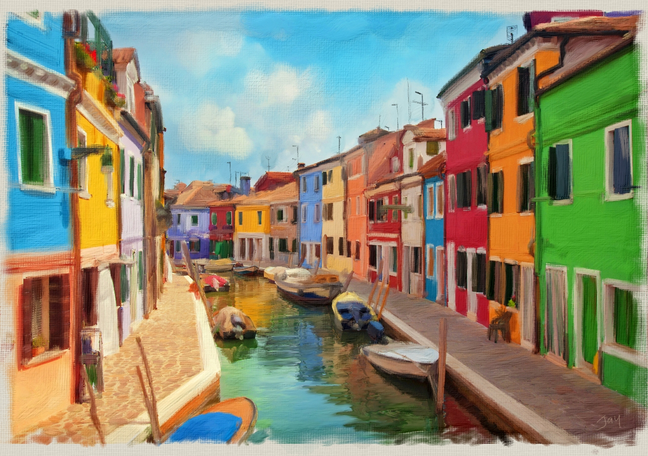 Italy in Colour Acrylic