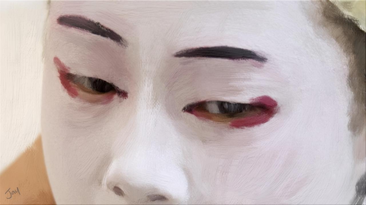 Japanese Geisha Acrylic