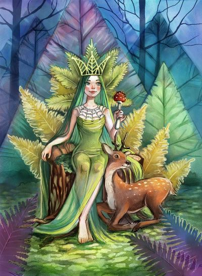 Queen of Moss and Ferns by Kamila Stankiewicz