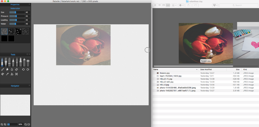 You Can See The Rebelle Image File Thumbnails In Every Browser Or Dialog Together With An Preview When Available