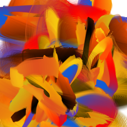 Abstract Brush-...